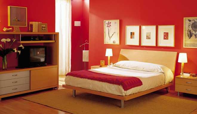 Decoracion actual de moda casas pintadas de rojo - Habitaciones de color rojo ...