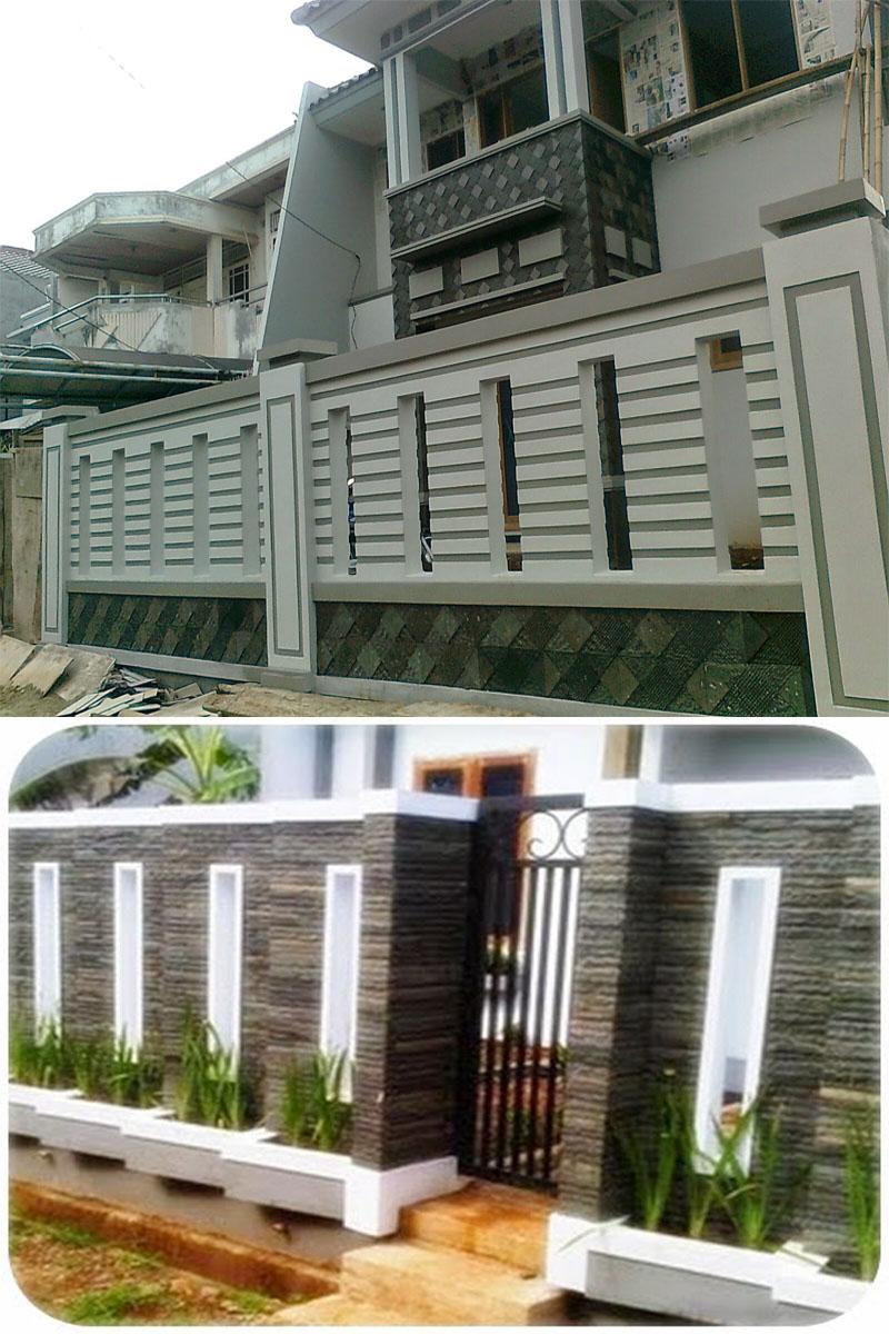 66 Desain Pagar Rumah Minimalis Warna Putih  Desain Rumah