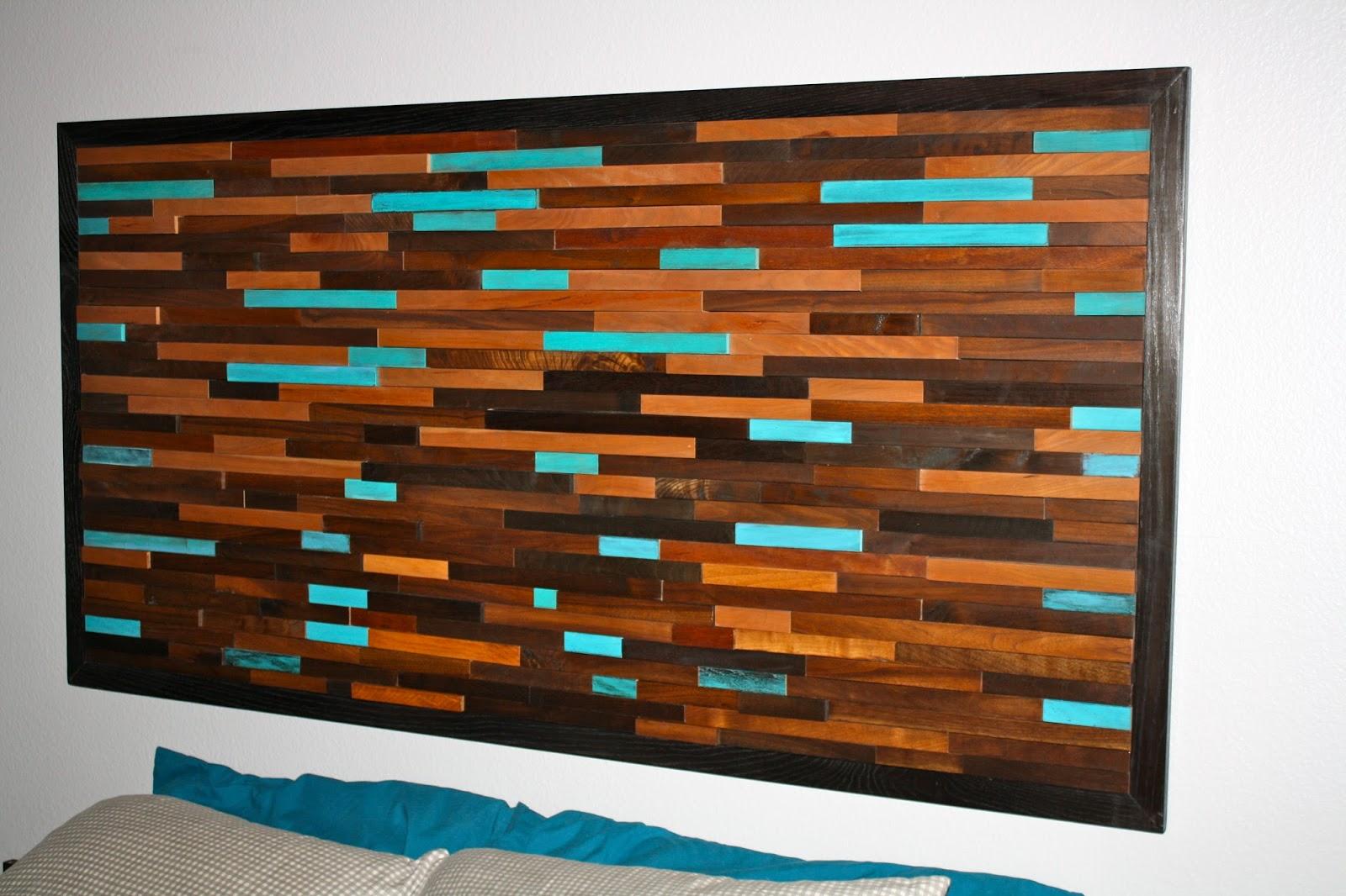 MakeMePrettyAgain: Wood wall art/headboard