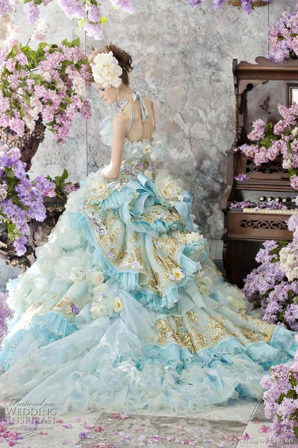 Bride In Dream Rococo Wedding Dress Sweet Bride