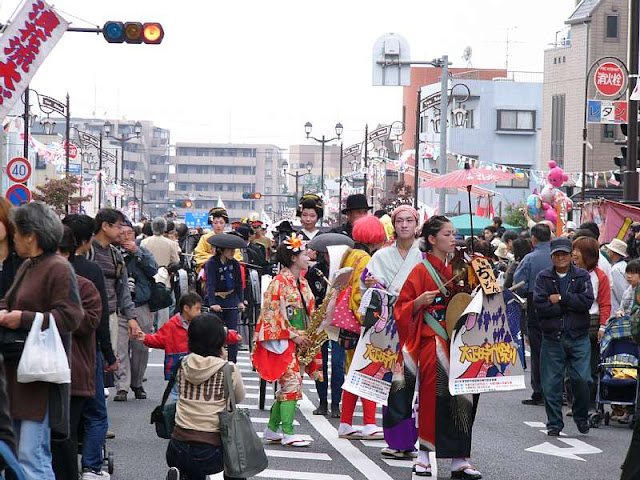Yono Railway Station Dance Taisho Period Festival, October, Saitama