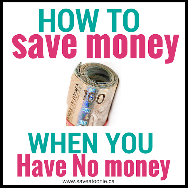How to Save Money When You Have No Money