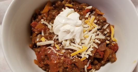Lentil chili Italian style (for legendary lentil cook off 2018)