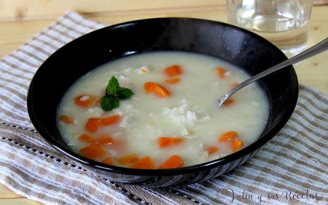 Sopa de puchero con arroz. Juli y sus recetas