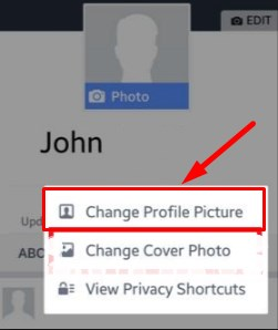 how to change profile picture on facebook app android