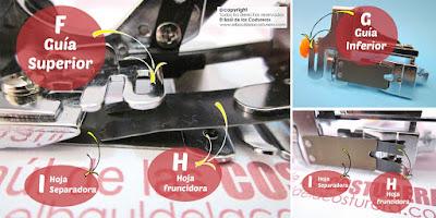 Prensatelas para hacer frunces y pliegues para máquinas de coser caseras Partes Hoja fruncido Hoja separadora Guías de tela