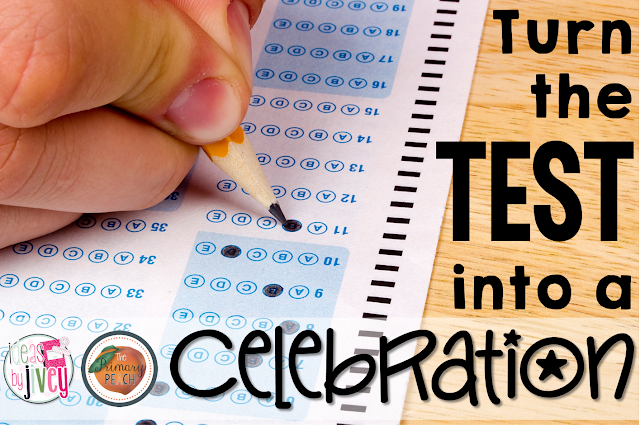 Cut up test anxiety and CELEBRATE instead! Check out this fun idea from Jivey over at The Primary Peach!
