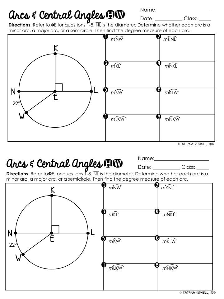 mrs  newell u0026 39 s math   mtbos30  central angles and arcs