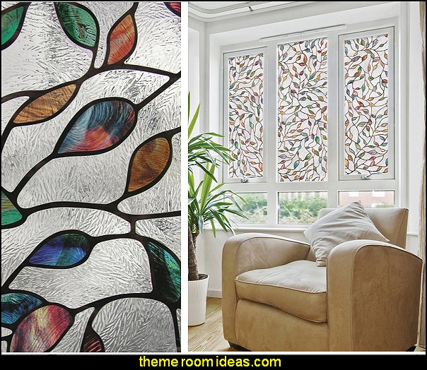 window wallpaper New Leaf Window Film  MURALS - door murals - wall murals - window sticker decals - ceiling murals - door posters - floor wallpaper - Styrofoam Crown Moldings - wall murals - wallpaper murals - floor decals - window wallpaper - Glow in the dark wall mural - decals for stairs