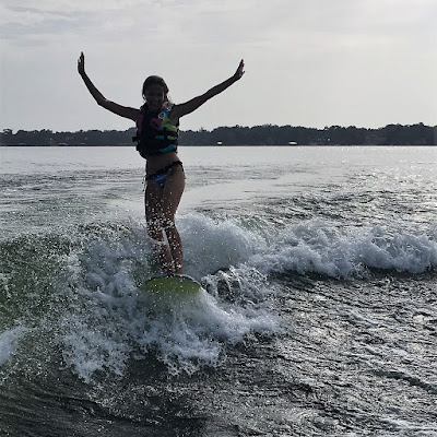wake surf, wakesurf, orlando, lake conway, wake board, surf, Tarzan, Paige, never give up, swimwear, inspiration, Just Bones Boardwear, tie-side bikini bottoms, high-nexk bikini top,sunrise, Malibu boats