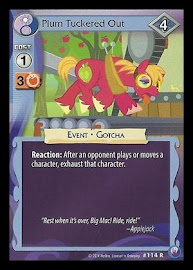 MLP Plum Tuckered Out Canterlot Nights CCG Card