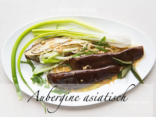 Warmer Auberginensalat - asiatisch angehaucht