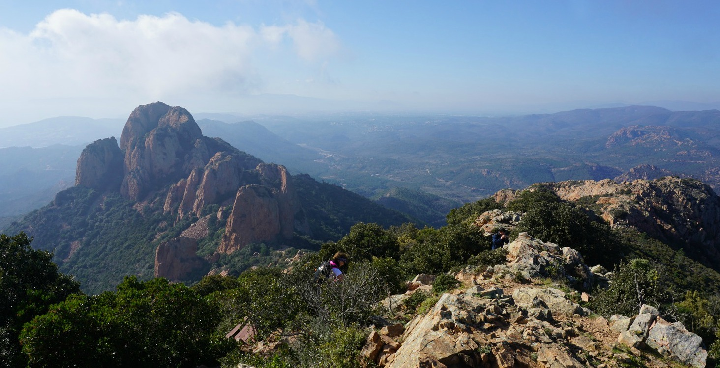 View to the west from Pic du Roux Esterel