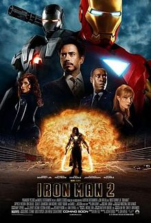 Poster for Iron Man 2 movieloversreviews.filminspector.com