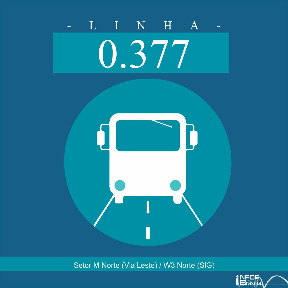 Horário de ônibus e itinerário 0.377 - Setor M Norte (Via Leste) / W3 Norte (SIG)