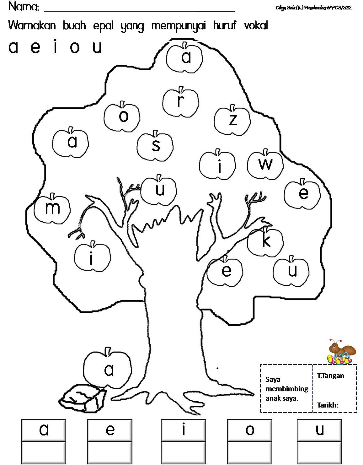 Cikgu Eela Il Preschoolers Pce Lembaran Kerja Kenal Huruf