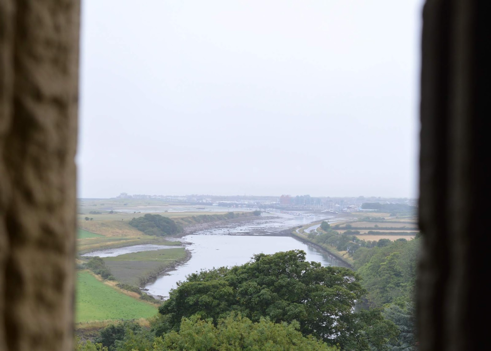 Coastal Adventures in Northumberland with Parkdean Resorts - Warkworth Castle views of Amble
