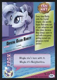 MLP Crystal Clear Rarity Series 4 Trading Card