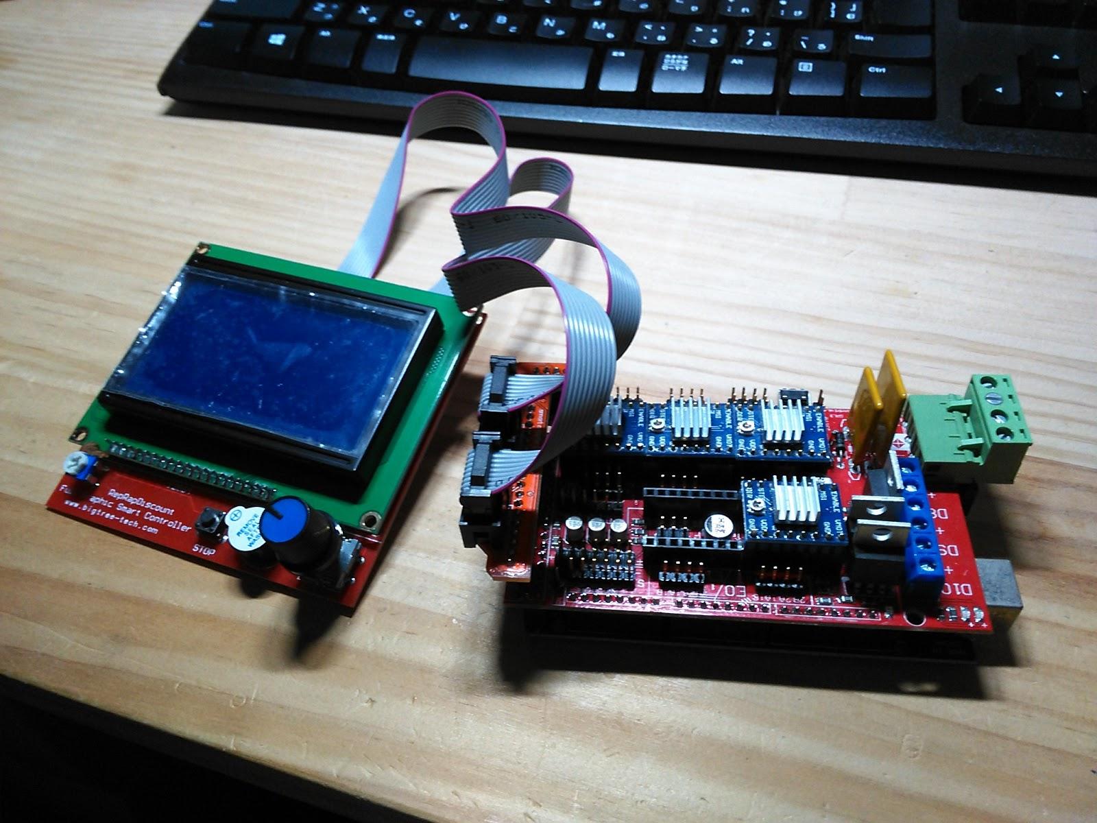 みら太な日々: 自作3Dプリンタ(大)その11 RAMPS1.4動作確認