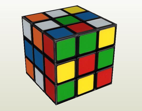 PAPERMAU: Rubik's Cube Decorative Paper Model - by Paul ...