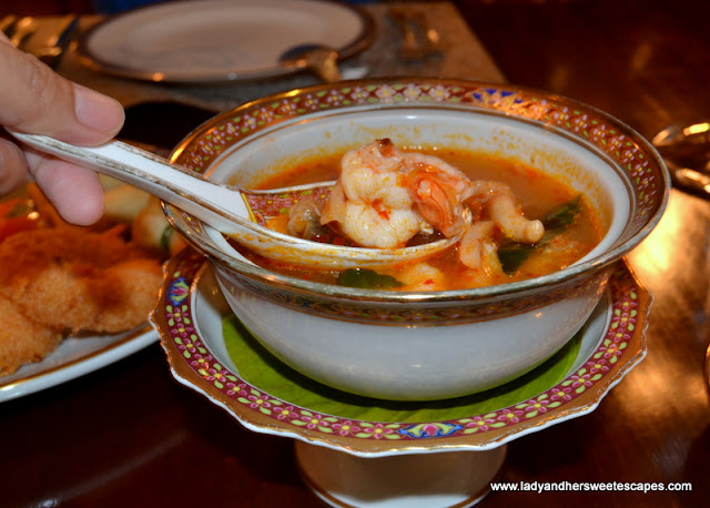 Tom Yum at Benjarong Dubai