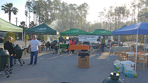 North Florida Big Green Egg Eggfest 2017 cook teams getting ready