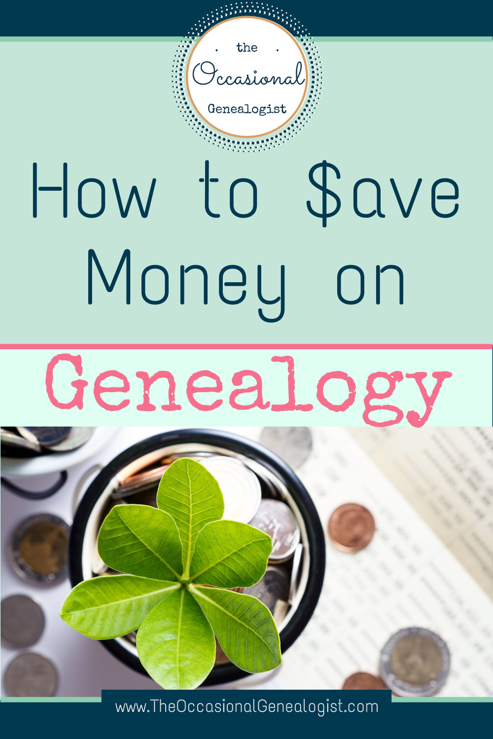 Save on genealogy subscriptions and services with these tips. Get genealogy records without paying for a subscription. | The Occasional Genealogist #genealogy #frugal #TheOccasionalGenealogist #familyhistory
