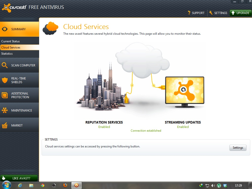 Updating Virus definitions and Avast Antivirus application version