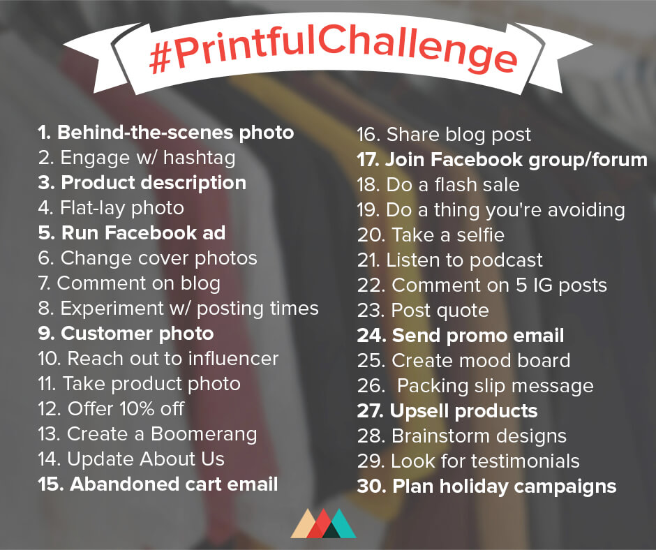 Resources bruce jones designbruce jones design printful the print on demand product site put out an excellent marketing challenge called the printfulchallenge it gives you 30 different tasks to do fandeluxe Choice Image