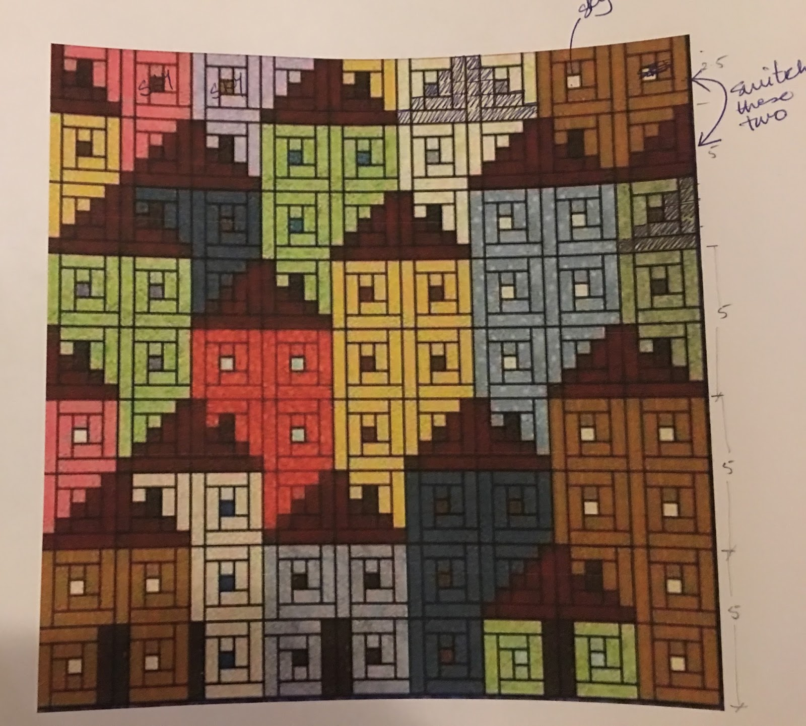 Superb img of Sew Preeti Quilts: Mini Quilt Major Challenges with #9C3B2F color and 1600x1442 pixels