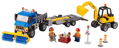 für kleine bauarbeiter: LEGO CITY Straßenreiniger und Bagger