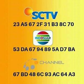 Kode Bisskey Asian Game 2019 SCTV INDOSIAR CHANNEL 1