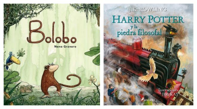 libros juveniles: bolobo, Harry Potter y la piedra filosofal ilustrado