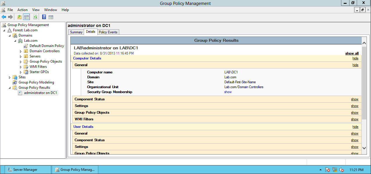 AD Shot Gyan: Group Policy Management Console in Windows 2012 Server