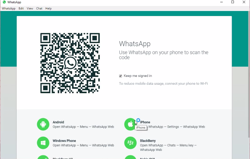 scan the qr code by using your smartphone you have to connected with internet for chatting with your near and dear ones on the desktop version whatsapp