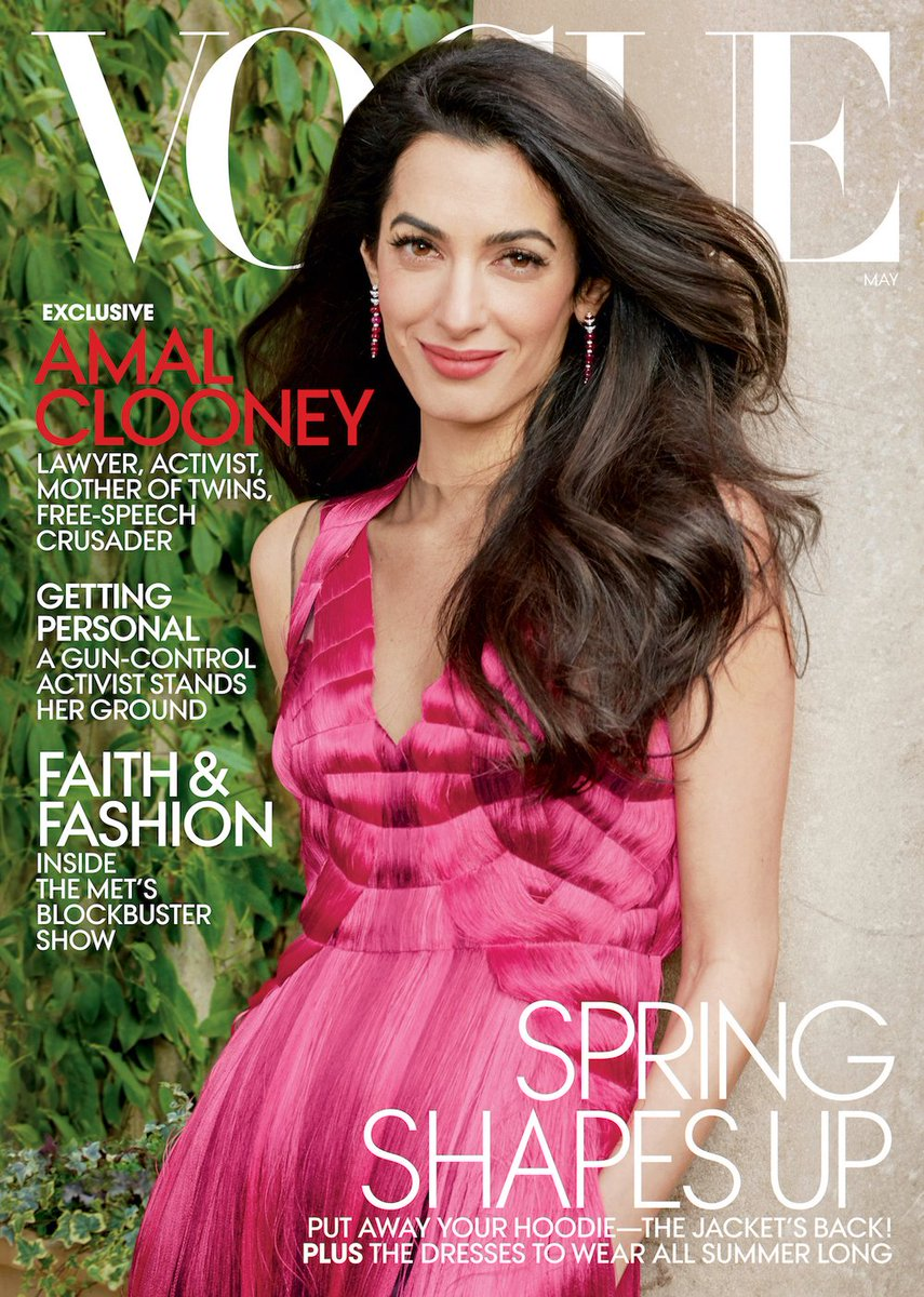 On Vogue's May cover: Human rights attorney Amal Clooney