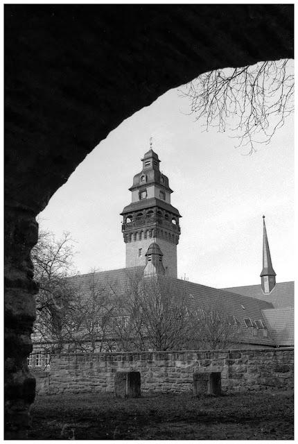 Im Rathausgarten in Zeitz