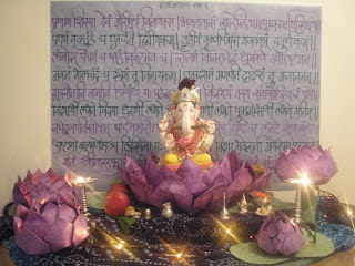 Ganpati bappa decoration Ideas for home