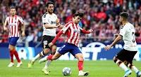 اتليتكو مدريد يتعثر امام فريق فالنسيا بالتعادل الاجابي هدف لمثله في الدوري الاسباني