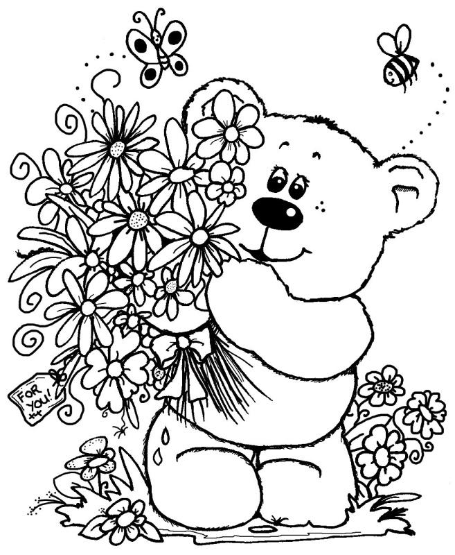 50 Desenhos De Ursos Urso Para Colorir Pintar Imprimir Espaco
