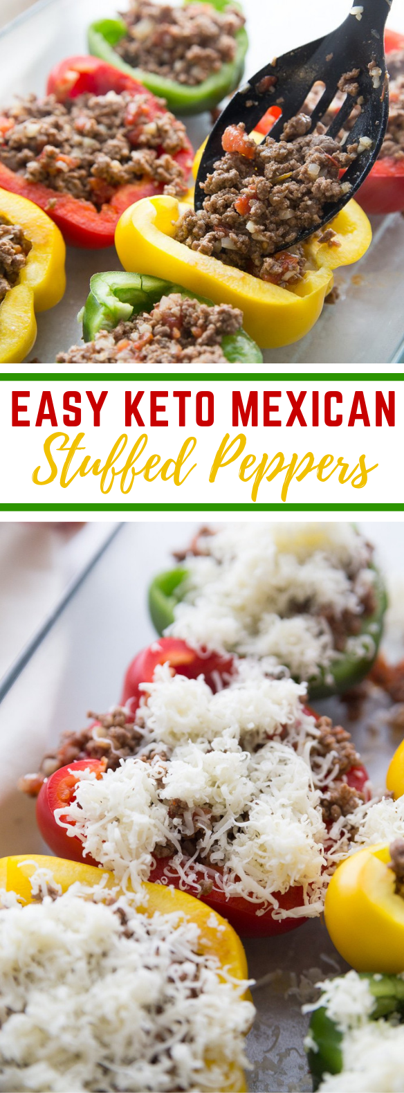KETO MEXICAN STUFFED PEPPERS: EASY, HEARTY & FLAVORFUL #ketodiet #simplerecipe