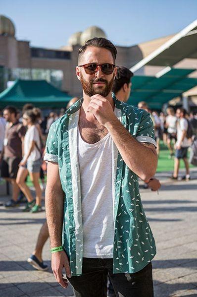 Look Masculino com Camisa Estampada Manga Curta