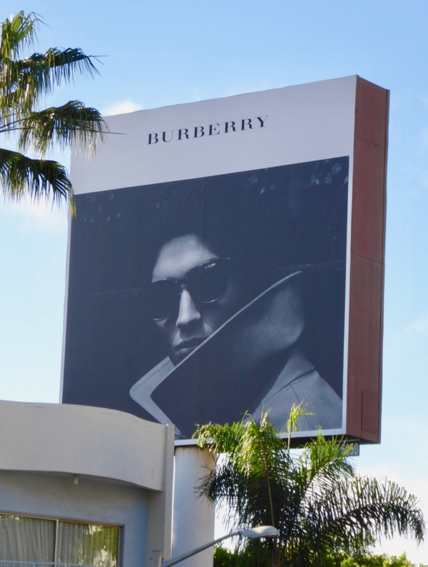 Burberry sunglasses Holidays 2017 billboard