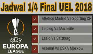 jadwal europa league babak perempat final