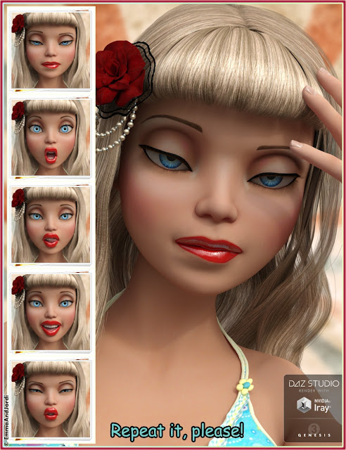 Oh So Divine Mix and Match Expressions for The Girl 7 and Genesis 3 Female