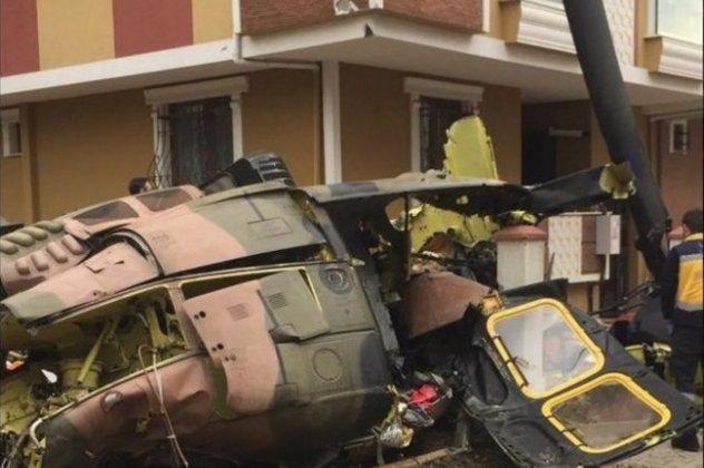 Στρατιωτικό ελικόπτερο συνετρίβη σε κατοικημένη περιοχή στην Κωνσταντινούπολη