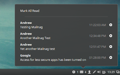 Mailnag email notifier cinnamon