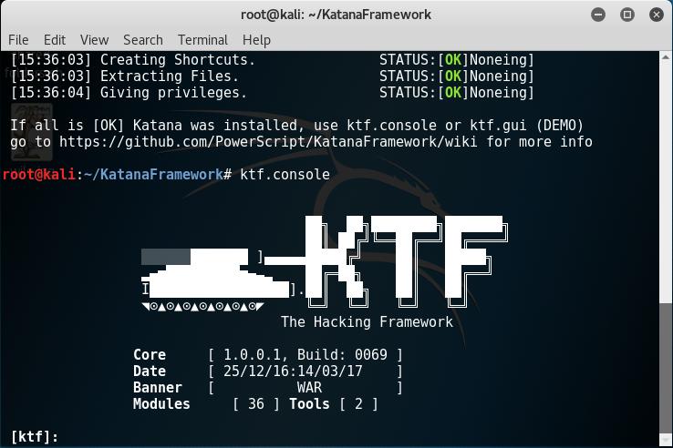 Console Framework Katana