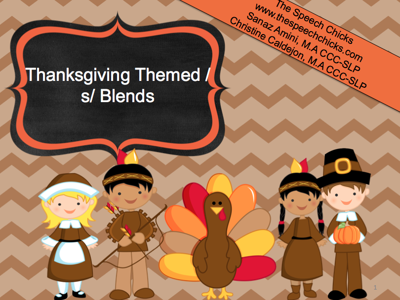 Thanksgiving Themed S Blends Packet This Contains 16 Blend Words With Pictures And 2 Coloring Pages Click Here To