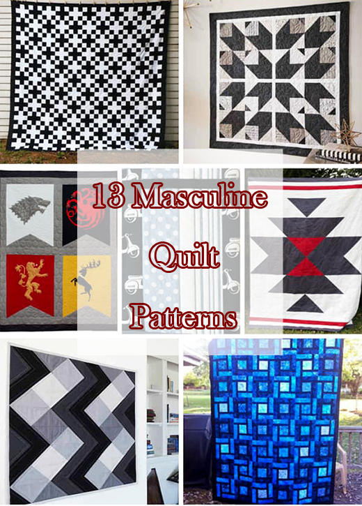 13 Masculine Quilt Patterns Perfect for the Man In Your Life, By IdealMe